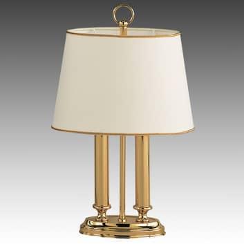 Eksklusiv bordlampe Queen mini, messing