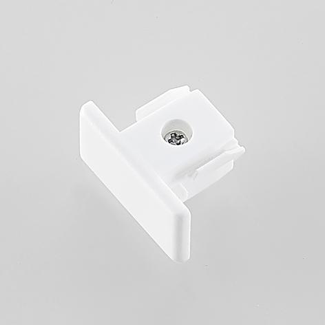 Koncová krytka pro 1fázový kolejnicový systém bílá