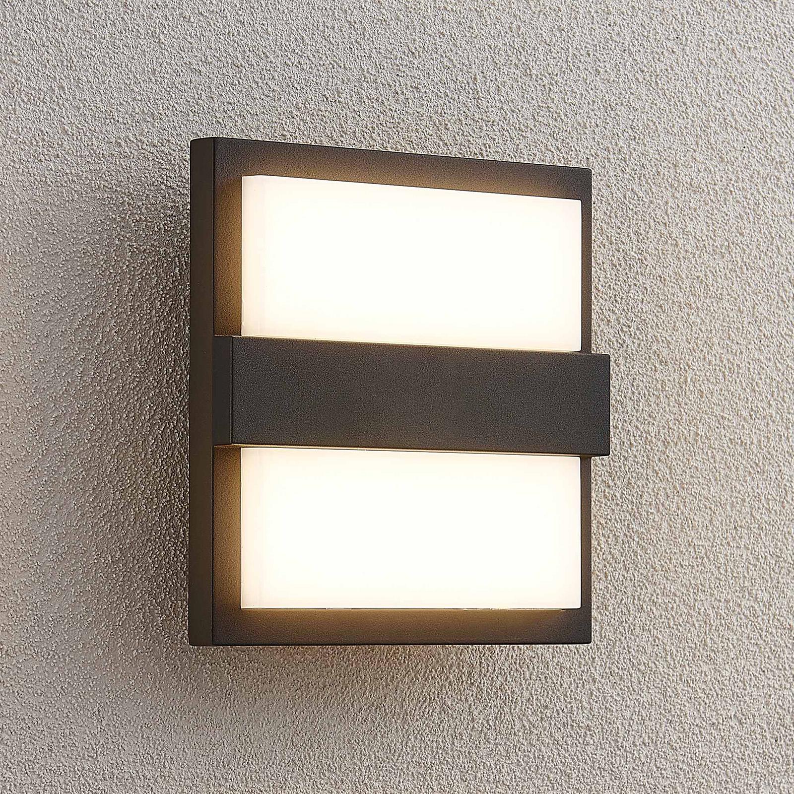 Lucande Gylfi LED-Außenwandleuchte, quadratisch