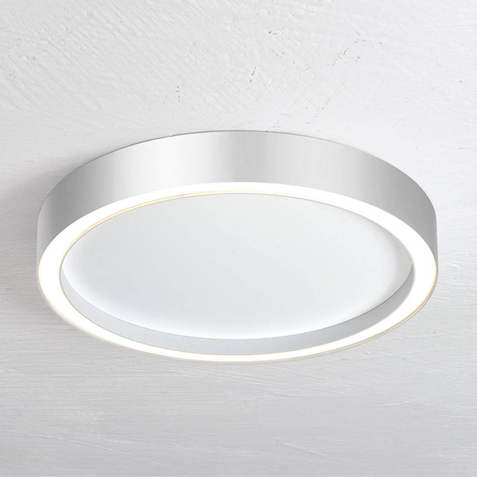 Bopp Aura LED-Deckenleuchte Ø 30cm weiß/aluminium