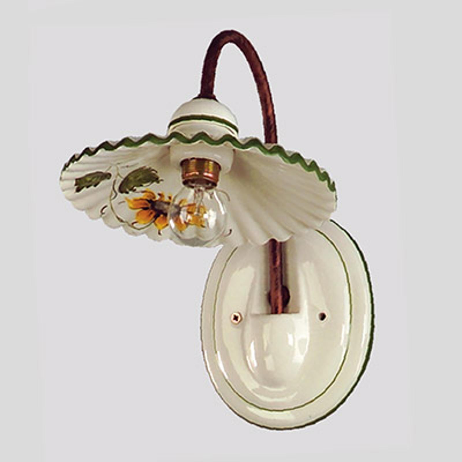 Væglampe i keramik Rusticana