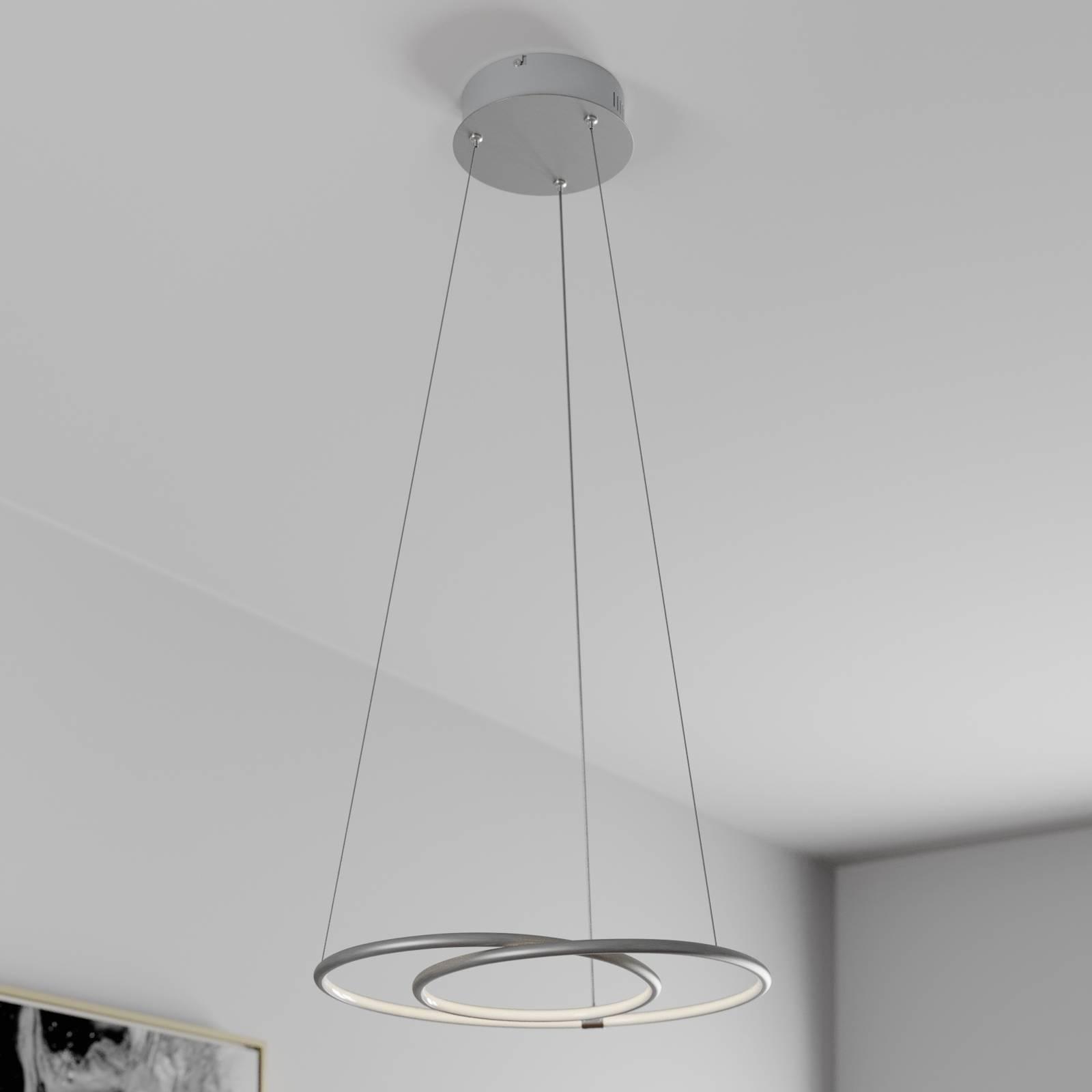 Lindby Lucy suspension LED, 45cm, aluminium