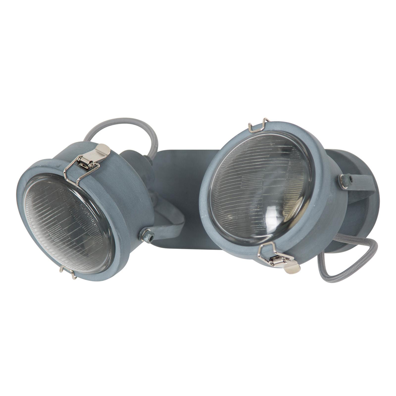 Plafonnier Satellite à 2 lampes en gris