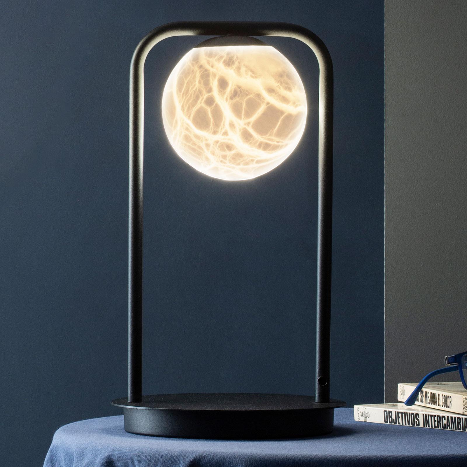 Lampe à poser LED Tribeca avec albâtre à 1 lampe