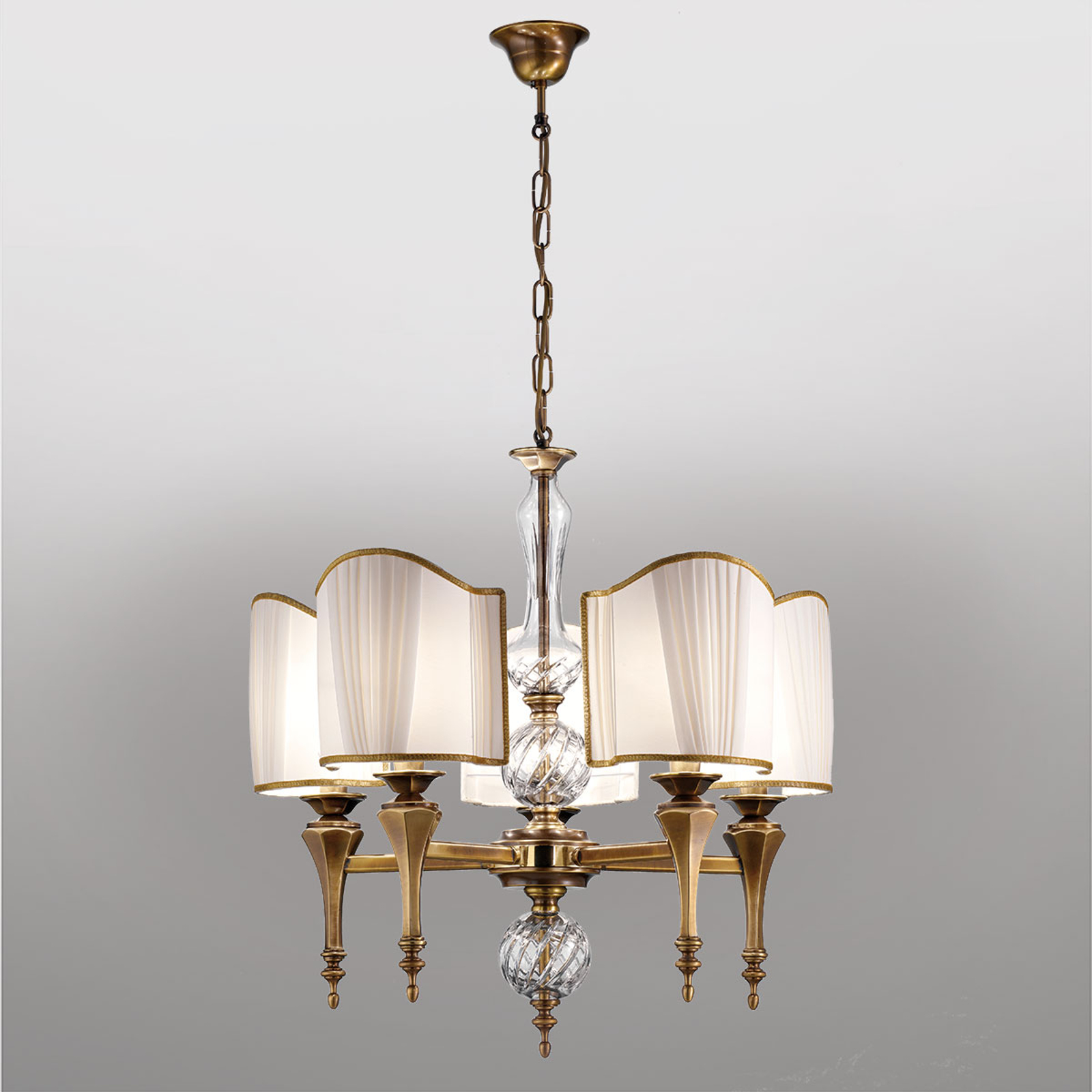 Lámpara colgante de aspecto antiguo Belle Epoque