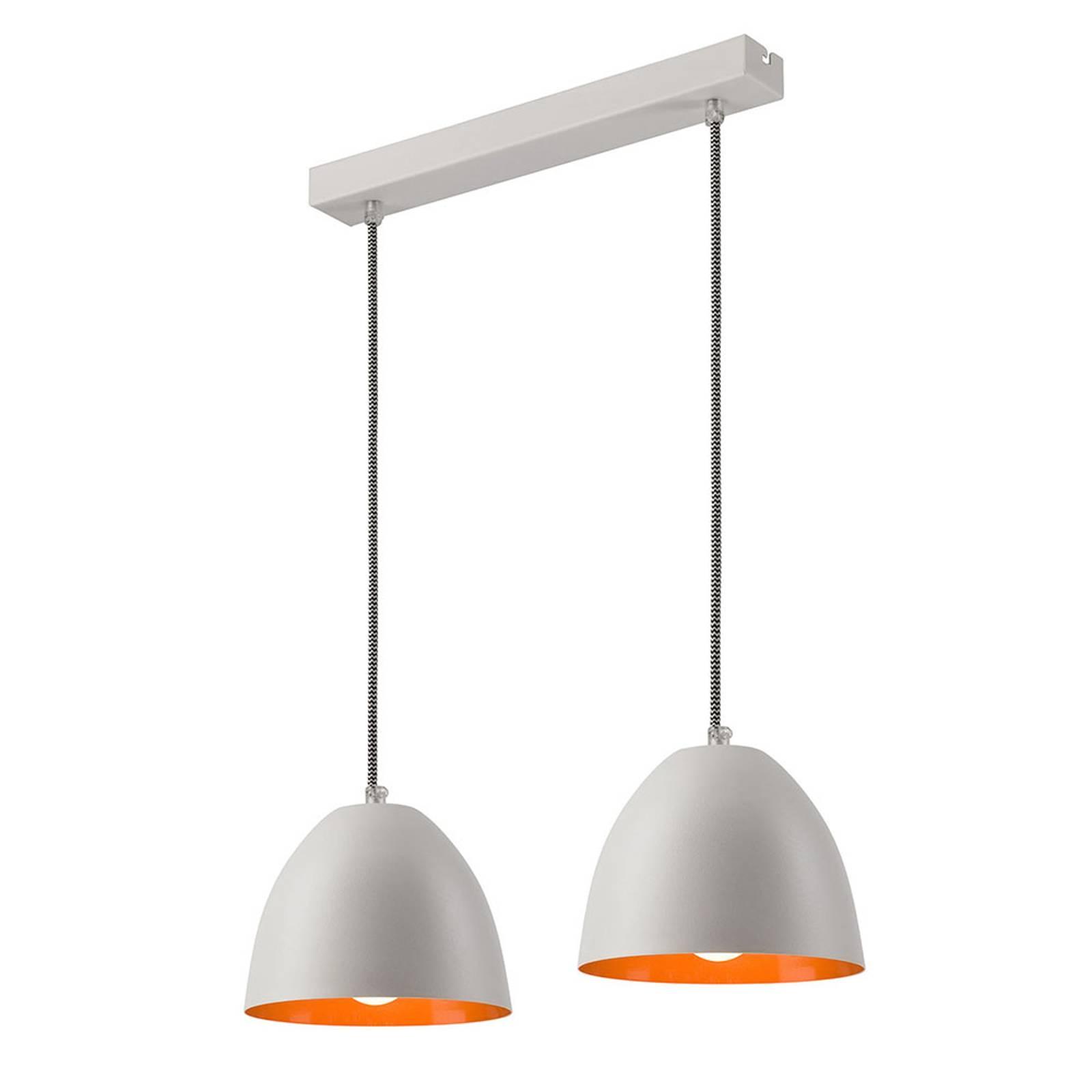 Suspension Atlantik à deux lampes, blanche