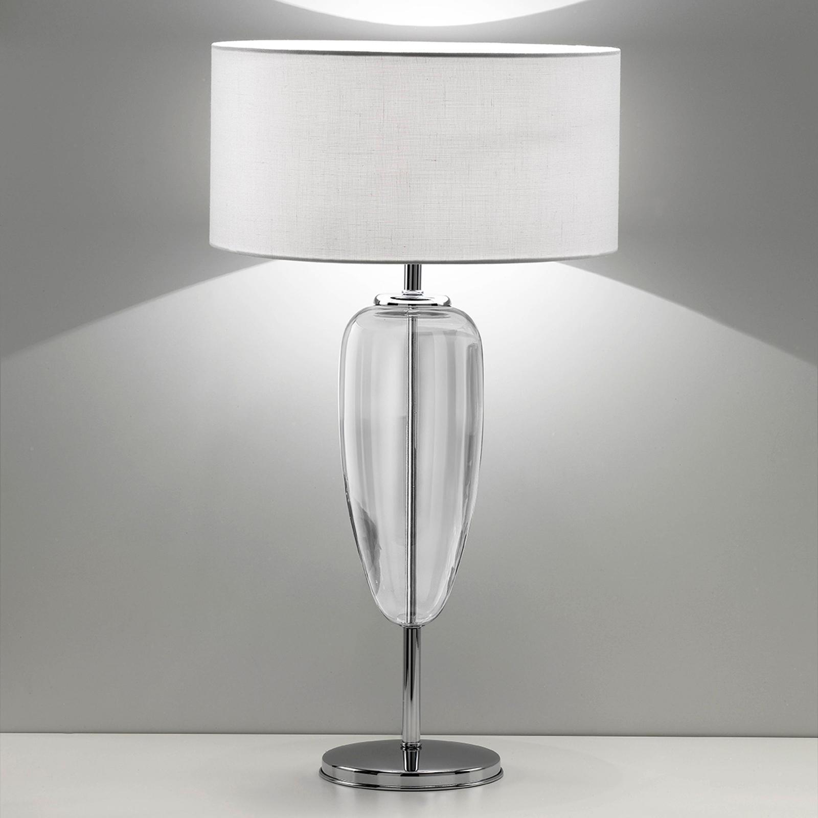 Lampa stołowa Show Ogiva 82cm szkło przezroczyste