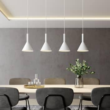 Arcchio Tadej -riippuvalo, 4-lamp., valkoinen
