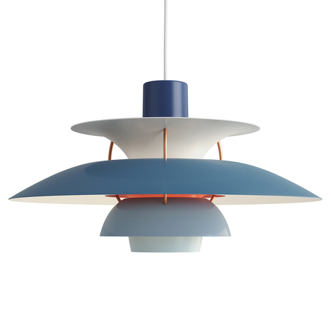 Deense designer hanglamp PH 5, blauw