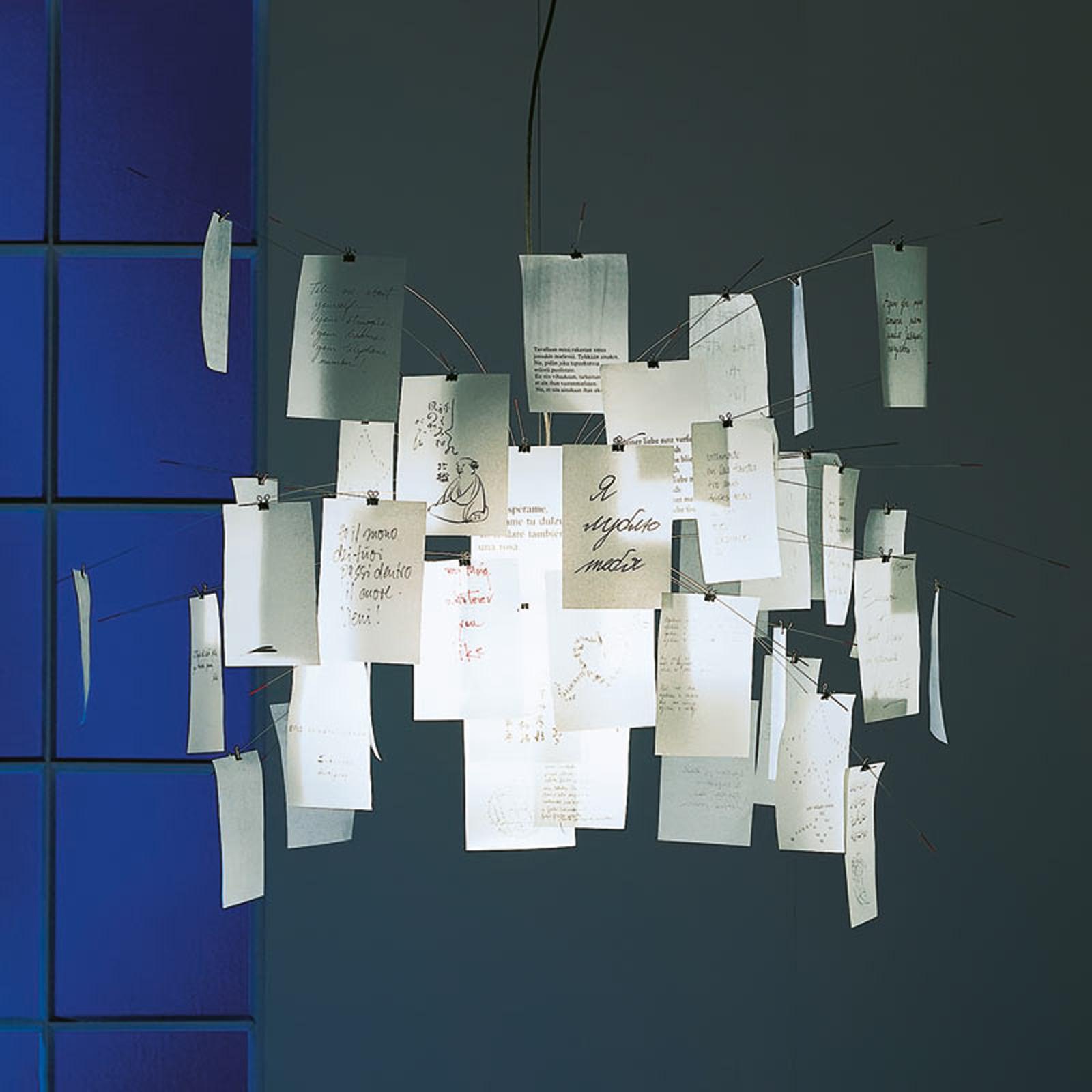 Lampa wisząca z karteczkami Zettel'z 5