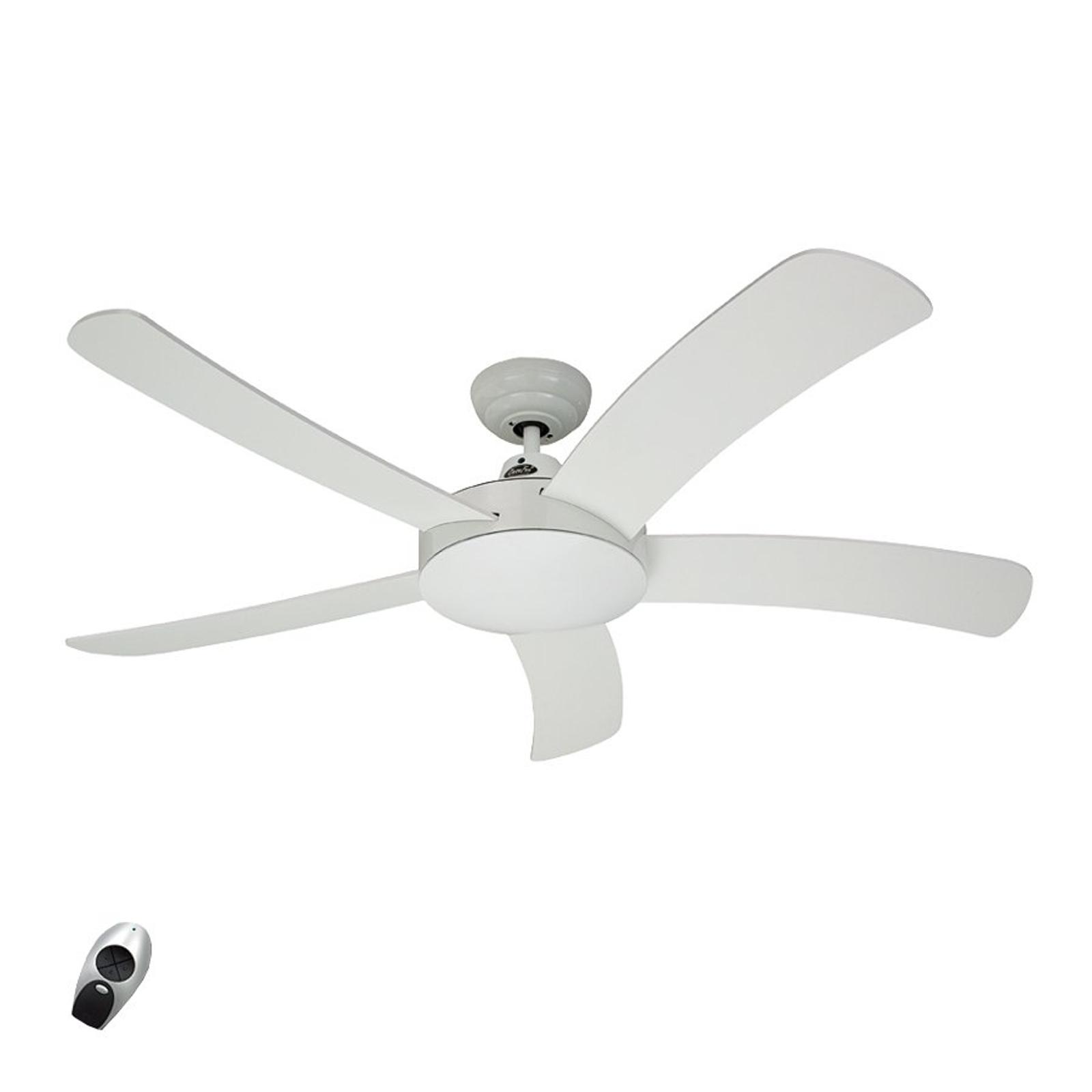Falcetto – stropní ventilátor, dřevo, bílá