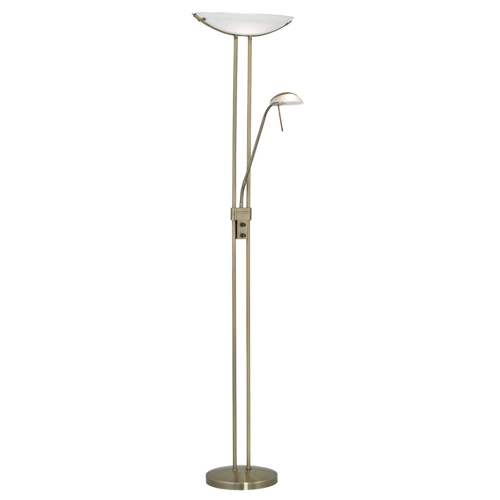 Elegante vloerlamp Baya bruin gepolijst