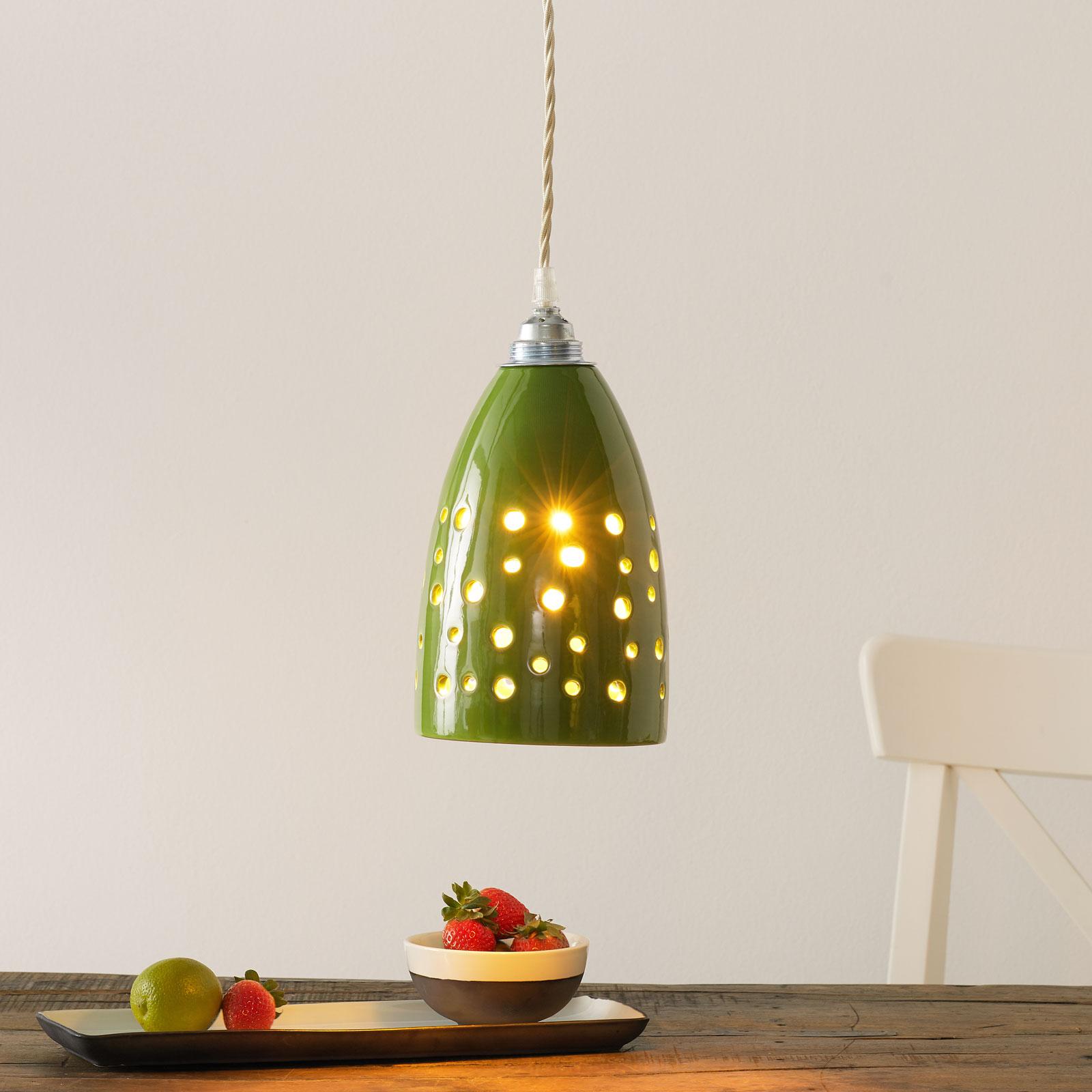 Ceramiczna lampa wisząca S1815 zielona