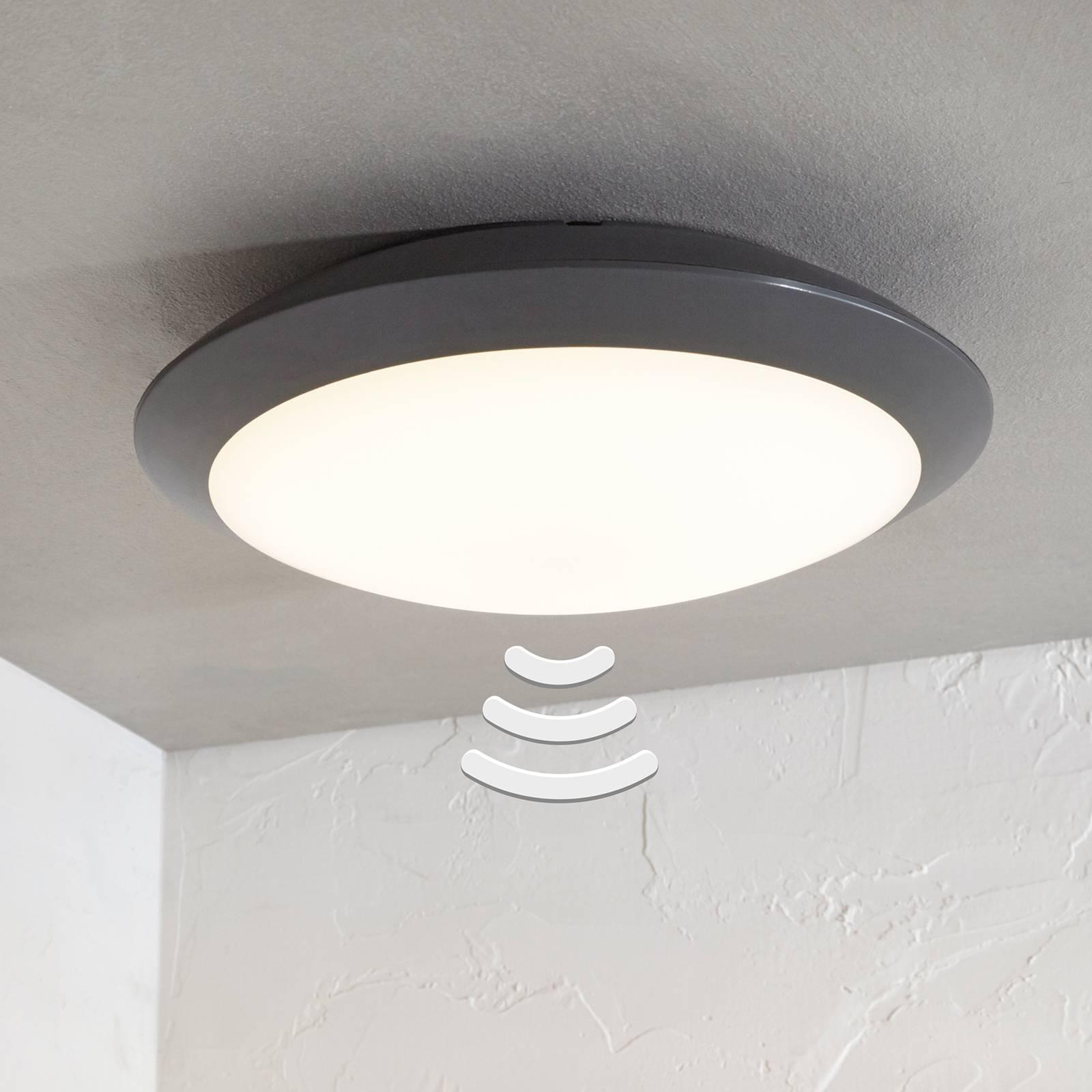 Lampa sufitowa zewn. LED Naira szara, z czujnikiem