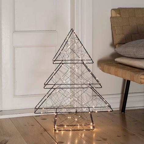 LED-Dekoleuchte Weihnachtsbaum, schwarz, 100fl