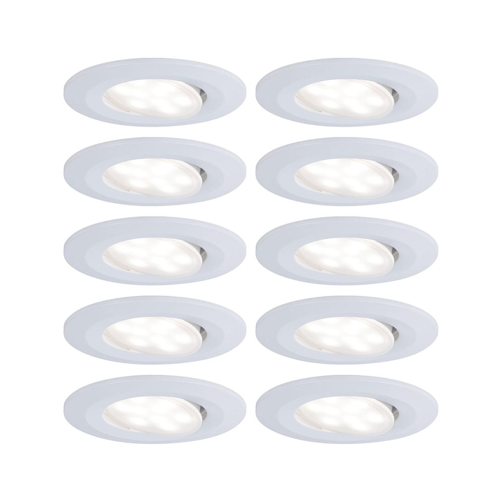Paulmann Calla LED-spot 10 stk, dæmpbar, hvid