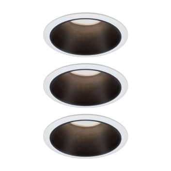 Paulmann Cole spotlight LED, negro-blanco, set 3