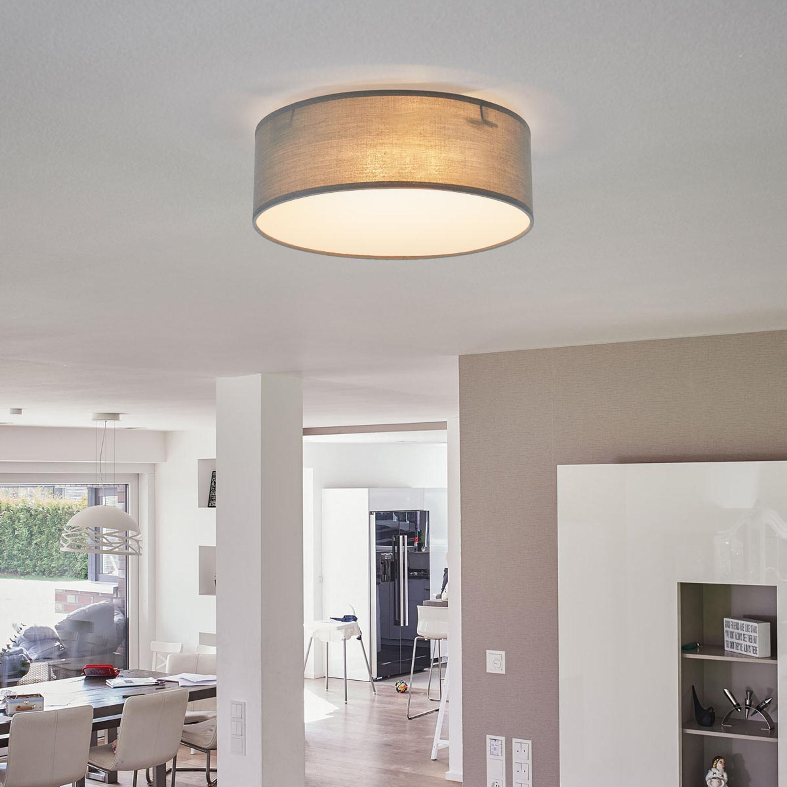 Grå taklampe Ceiling Dream i tekstil, 20 cm