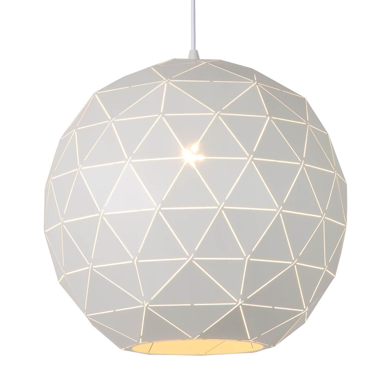 Lampa wisząca Otona z metalu, biała Ø 40 cm