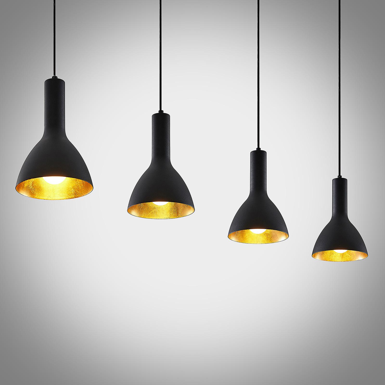 Arcchio Cosmina závěsné světlo, 4žár. dlouhé černé