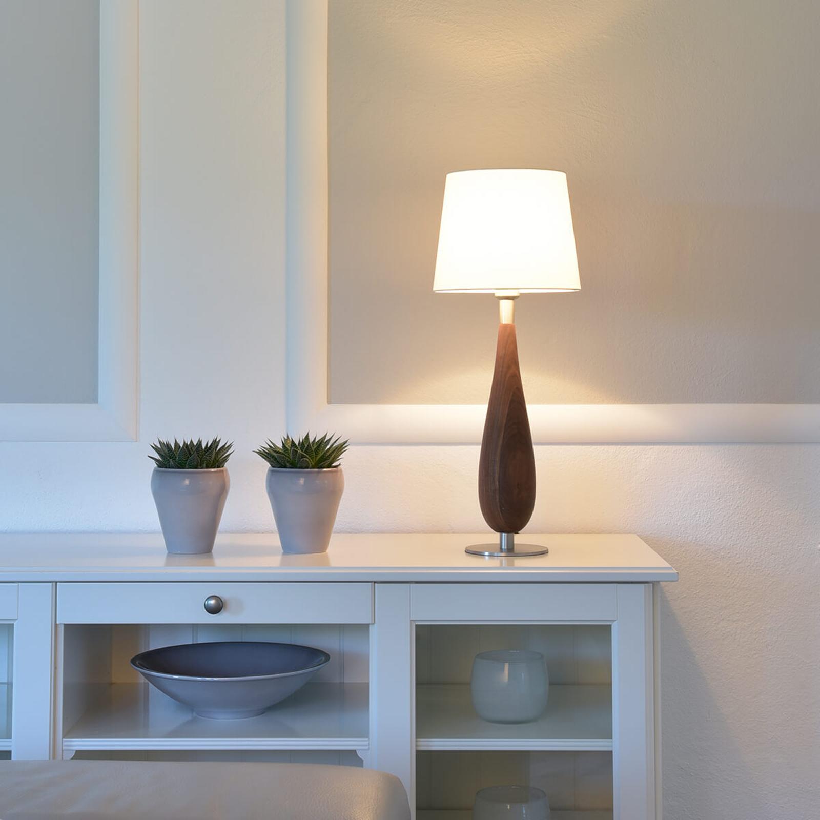 Produktové foto HerzBlut HerzBlut Lara stolní lampa ořechové dřevo, 61cm