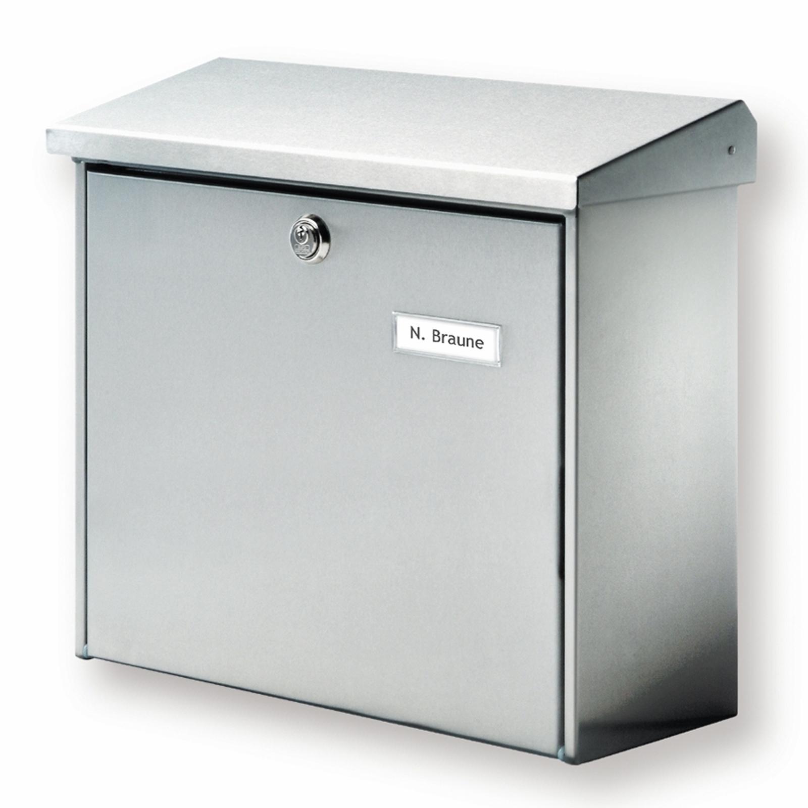 Classica cassetta postale Comfort di acciaio