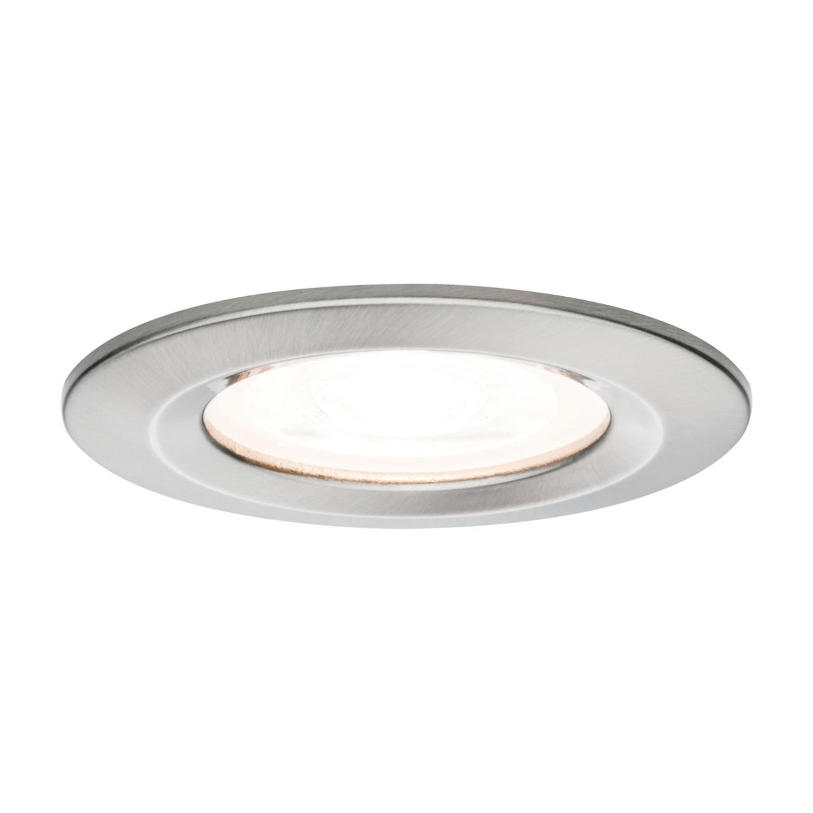 Paulmann LED-spot Nova rund, IP44, dimbar, järn