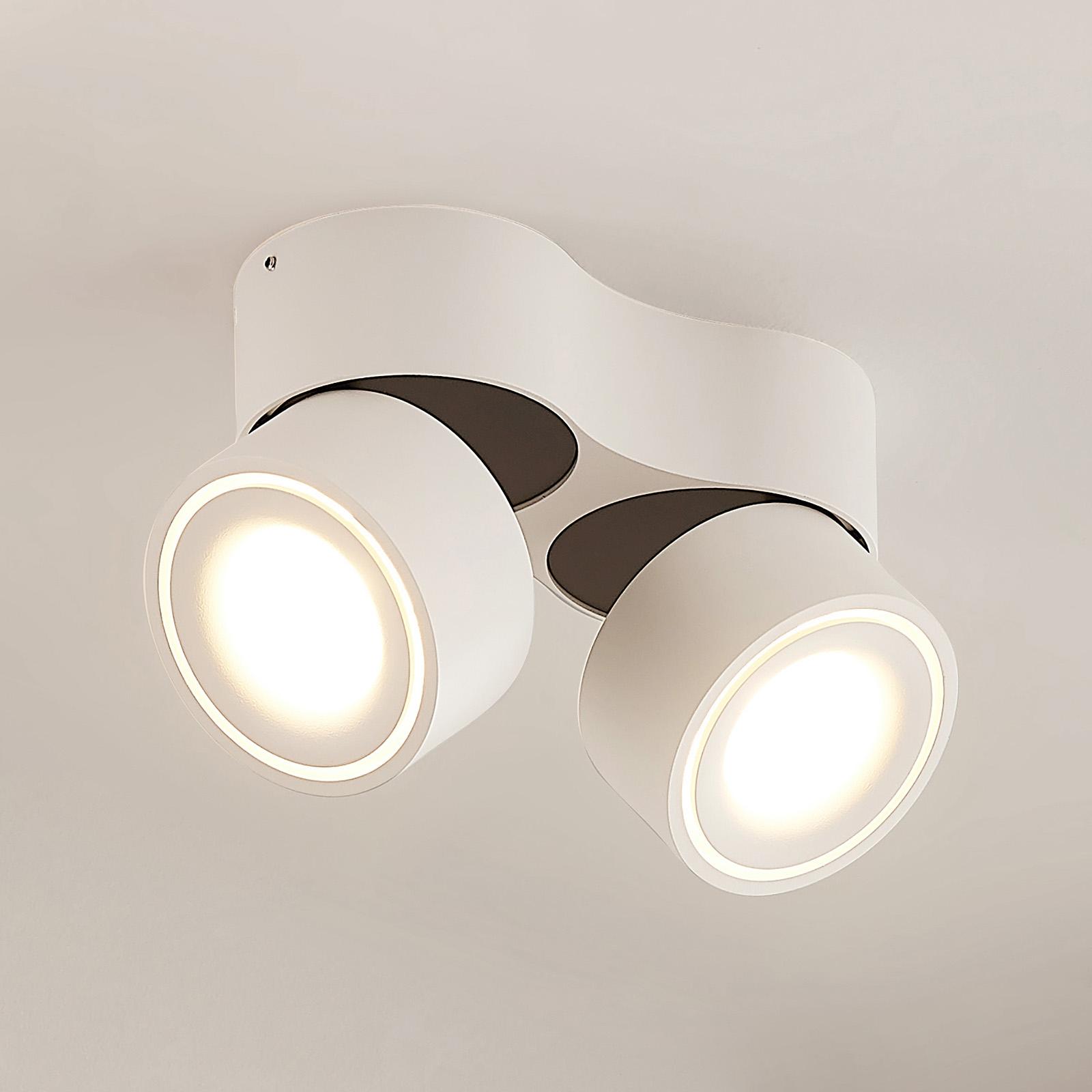 Arcchio Rotari -LED-kattokohdevalo, 2x8,9W