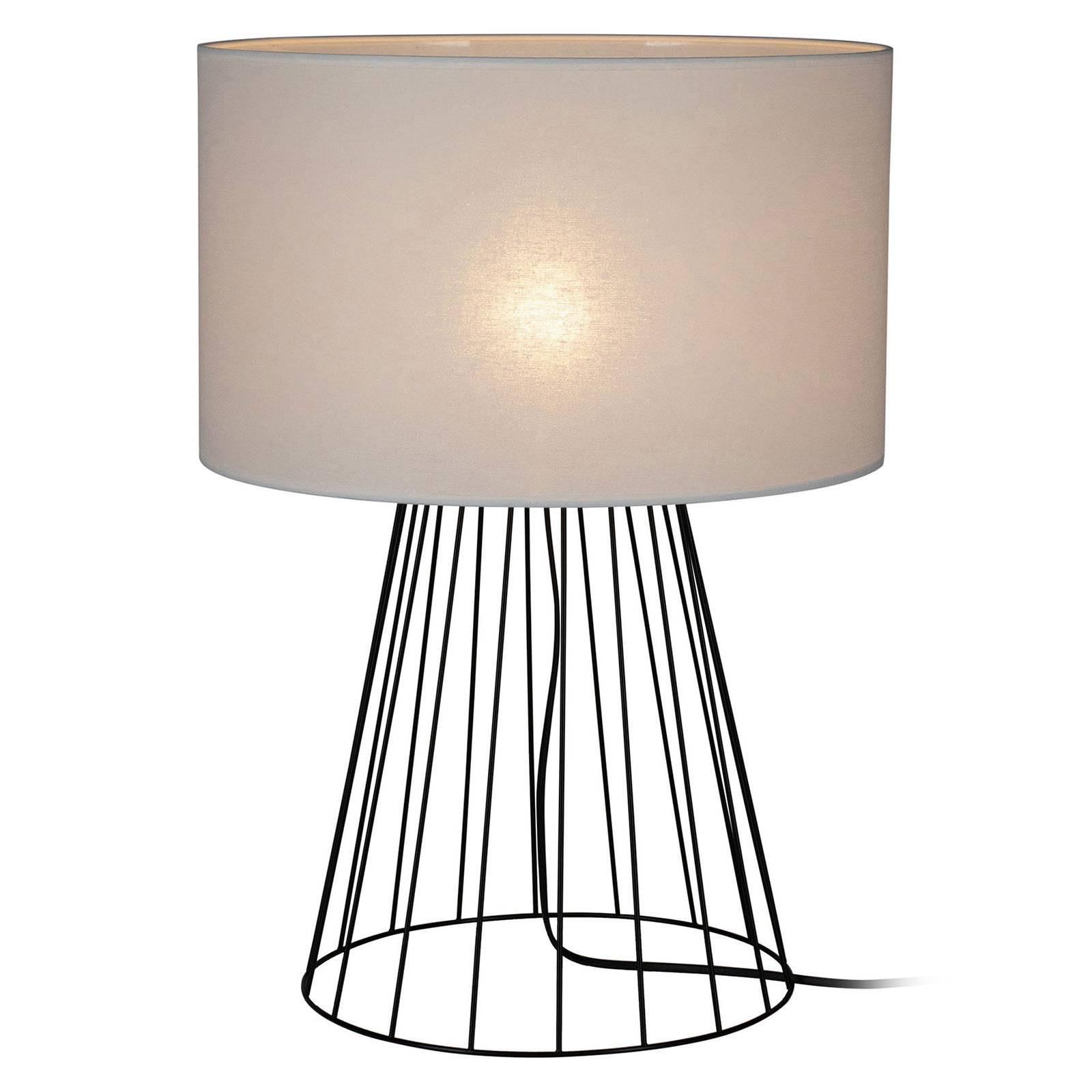 Lampada da tavolo Valene tessuto altezza 69,5 cm