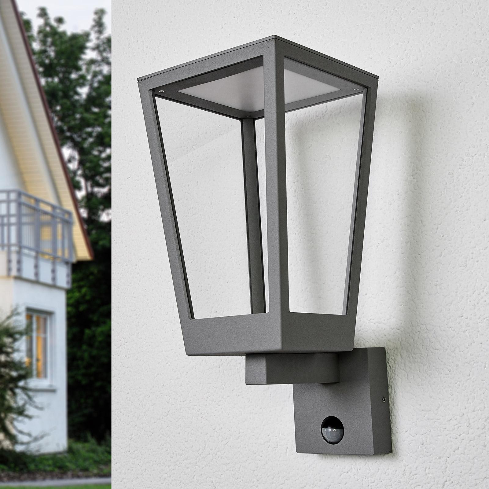 Chaja - Bewegungmelder-Wandlampe, Laternenform