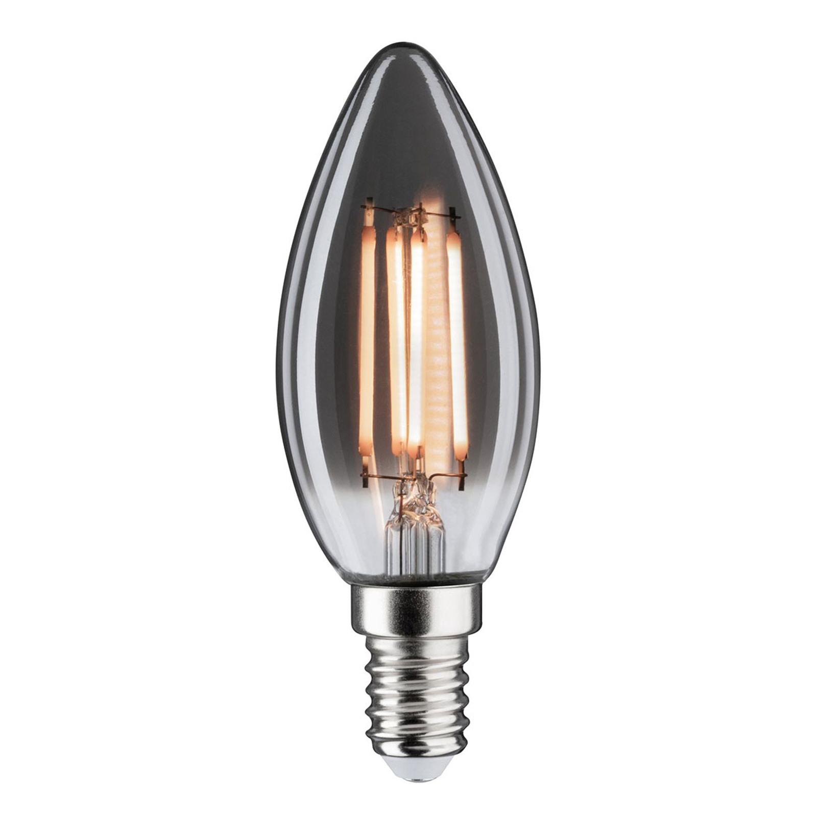 LED žárovka-svíčka E14 4W 2200K kouřová stmívací