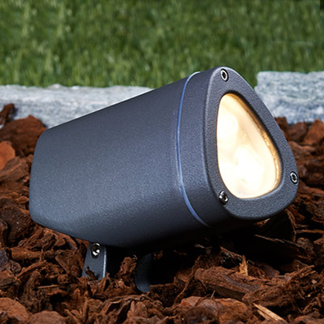 Spot Esma, a LED, esterni, 2700 K, orientabile
