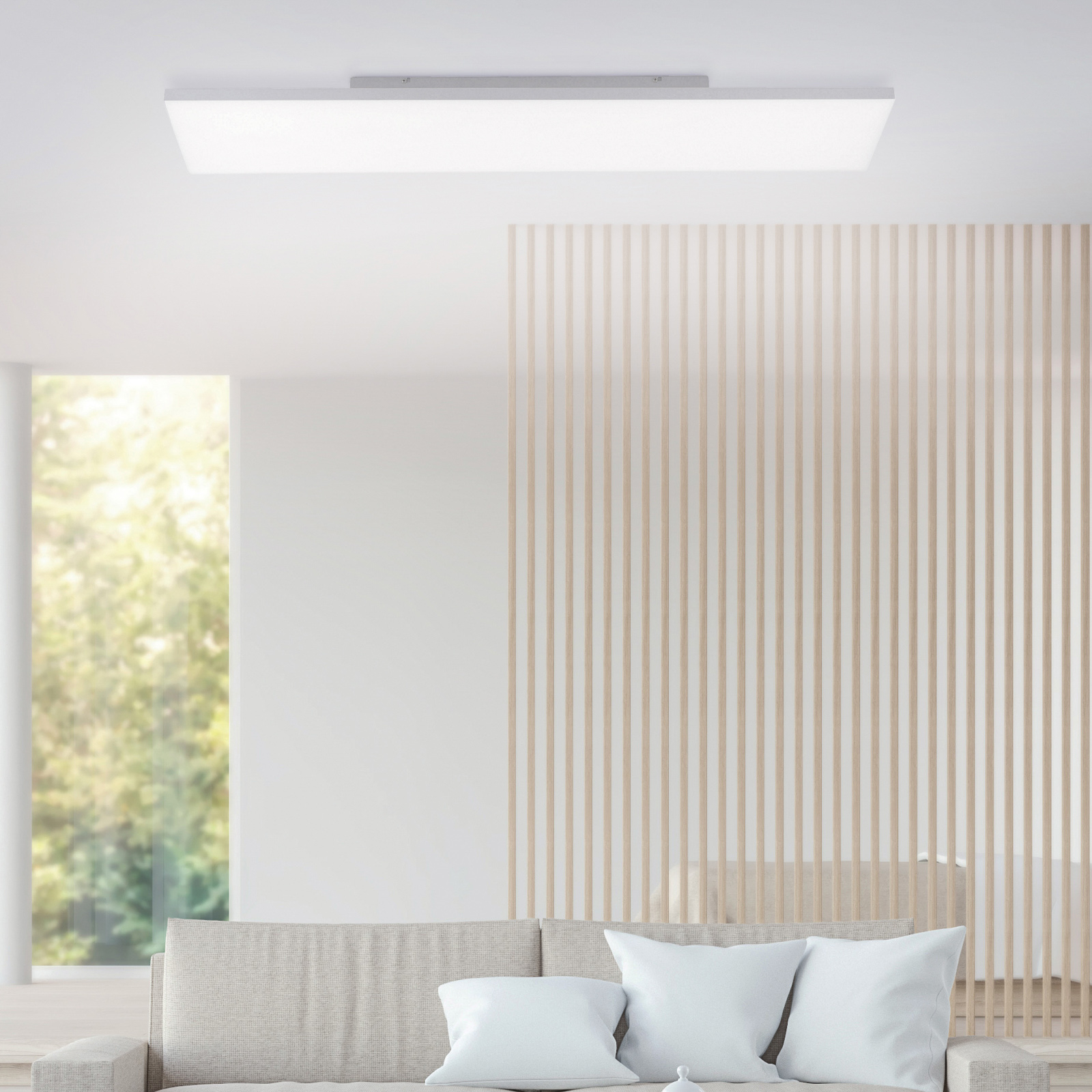 Canvas LED-taklampe, tunable white, 100 x 25 cm
