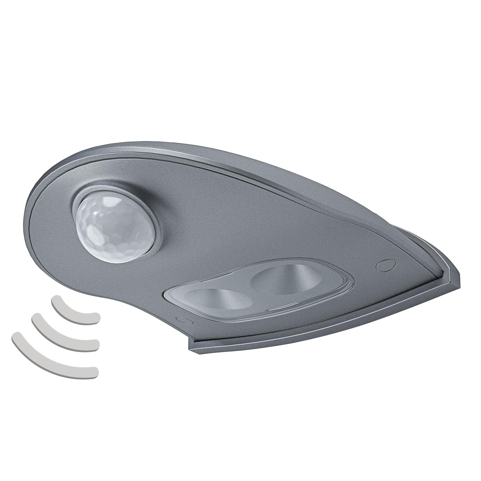 LEDVANCE Door Down utendørs LED-vegglampe, sølv