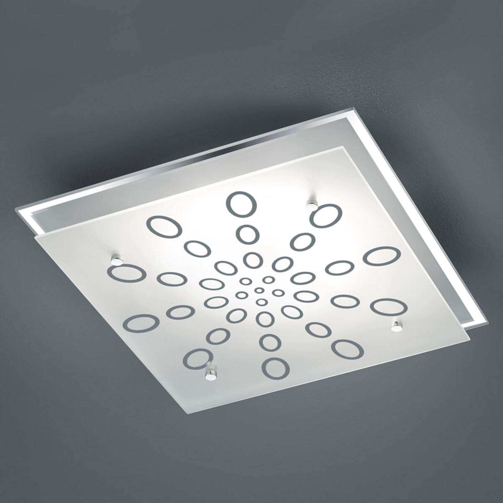 LED-taklampe Dukat, dimbar med veggbryter