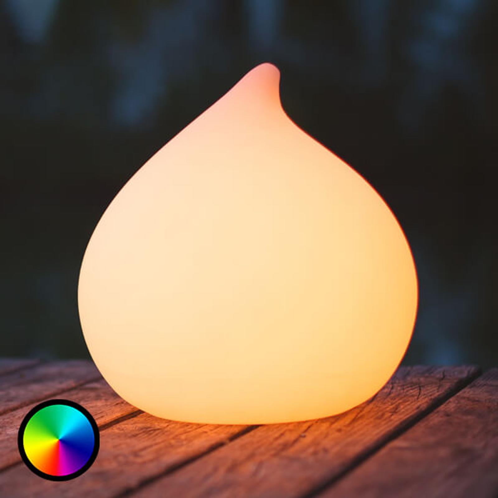 Dew - regulowana i pływająca lampa LED