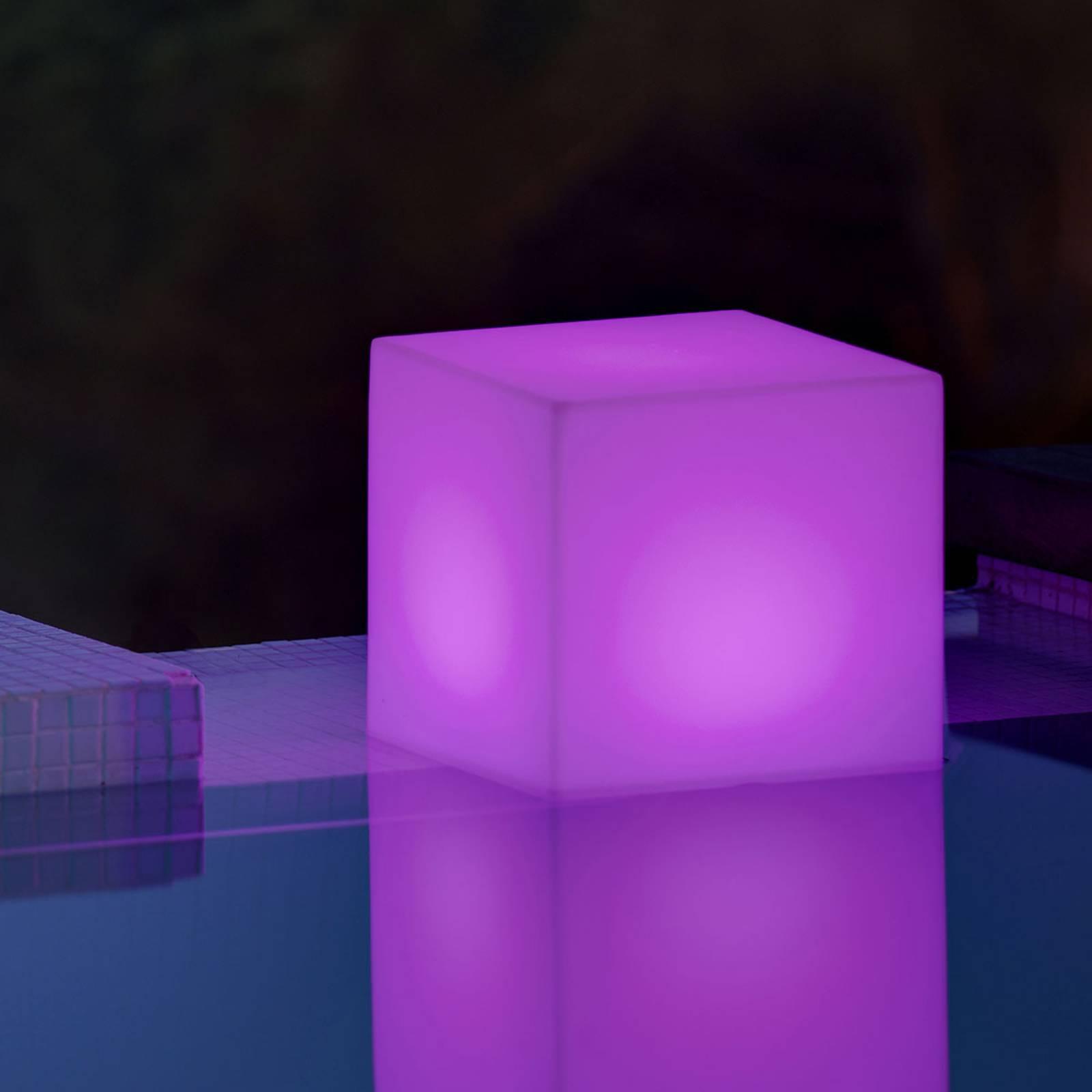 Newgarden lampa solarna Cuby kostka, 32 cm