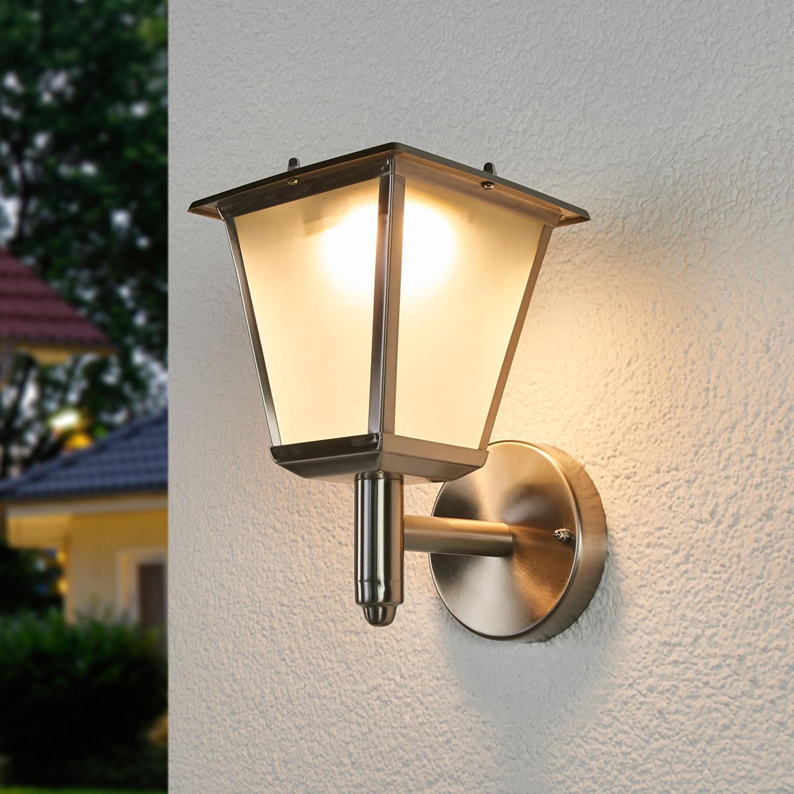 Buitenwandlamp Anica op zonne-energie LED's, rvs