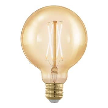 E27 G95 LED-globepære 4W, 1,700K, guld, dæmpbar