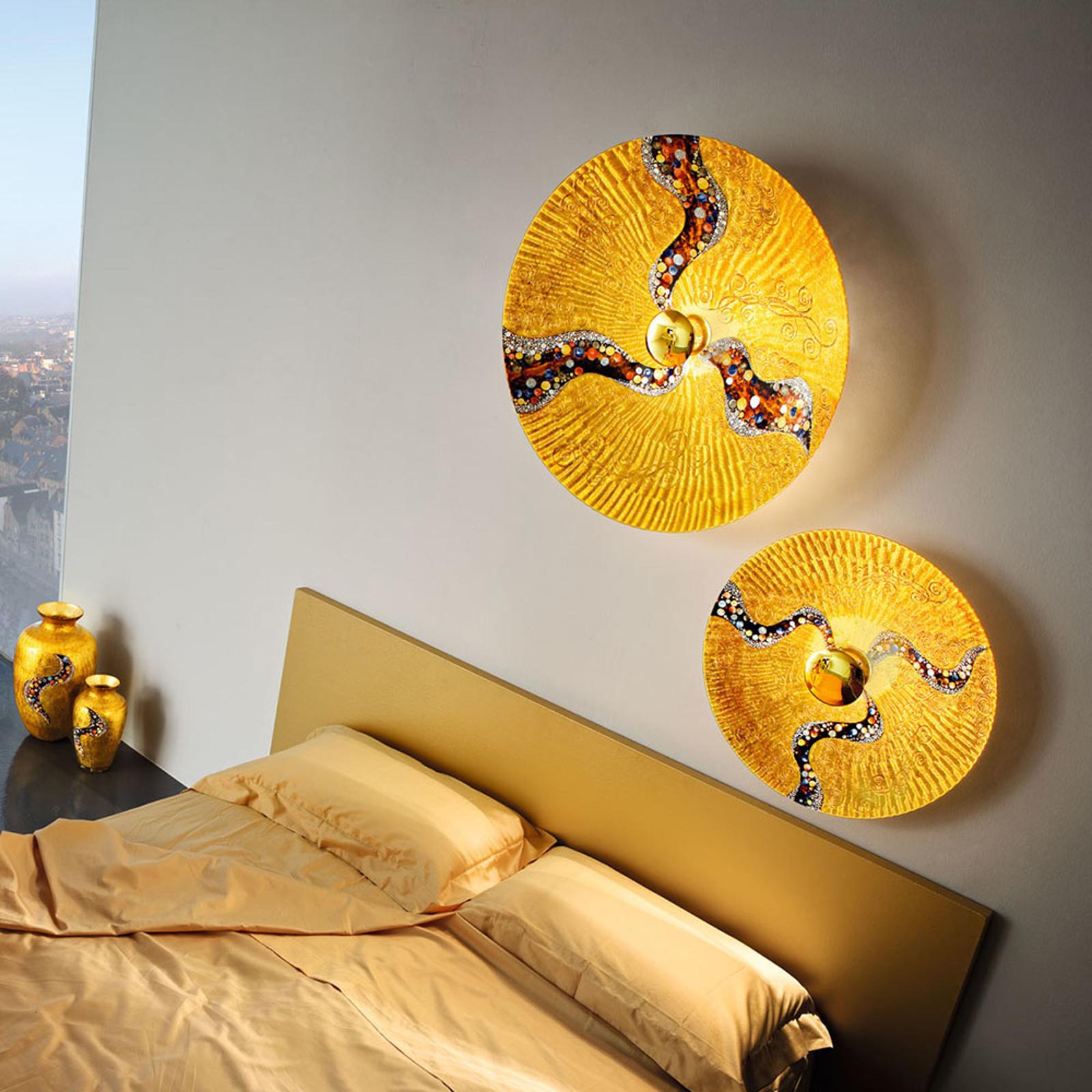 KOLARZ Luna Kiss goud wandlamp, 24 kt, Ø 54 cm