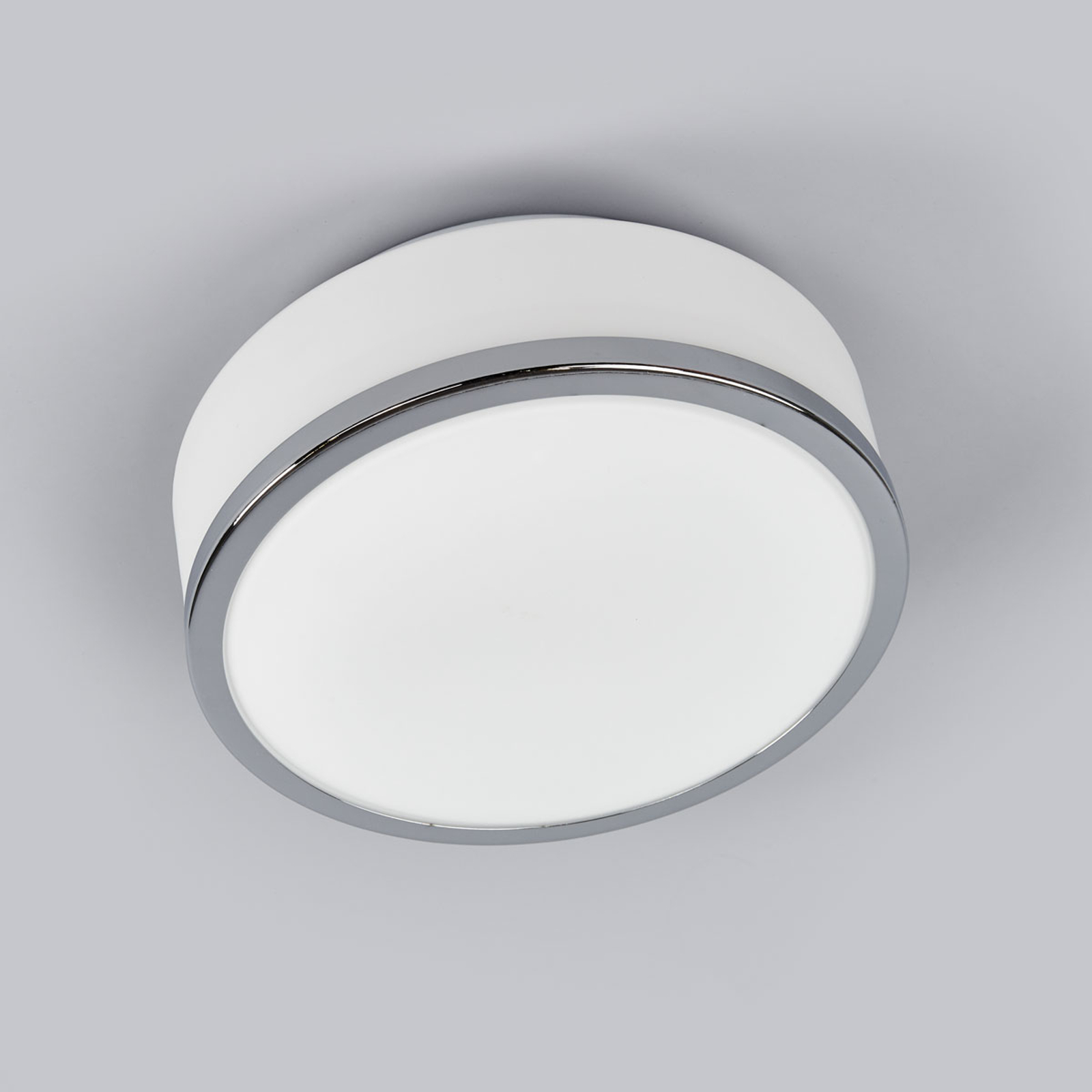 Lampa sufitowa Flush IP44, Ø 23 cm, chrom
