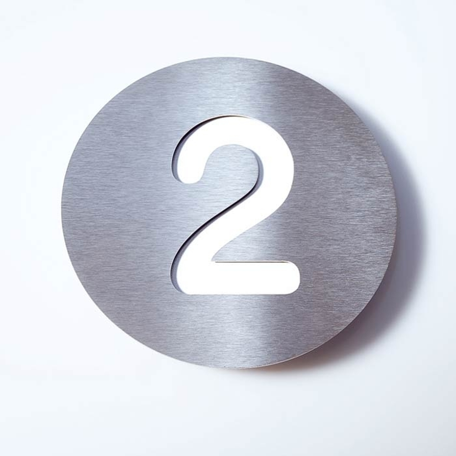 Stainless steel house number Round_1057080_1