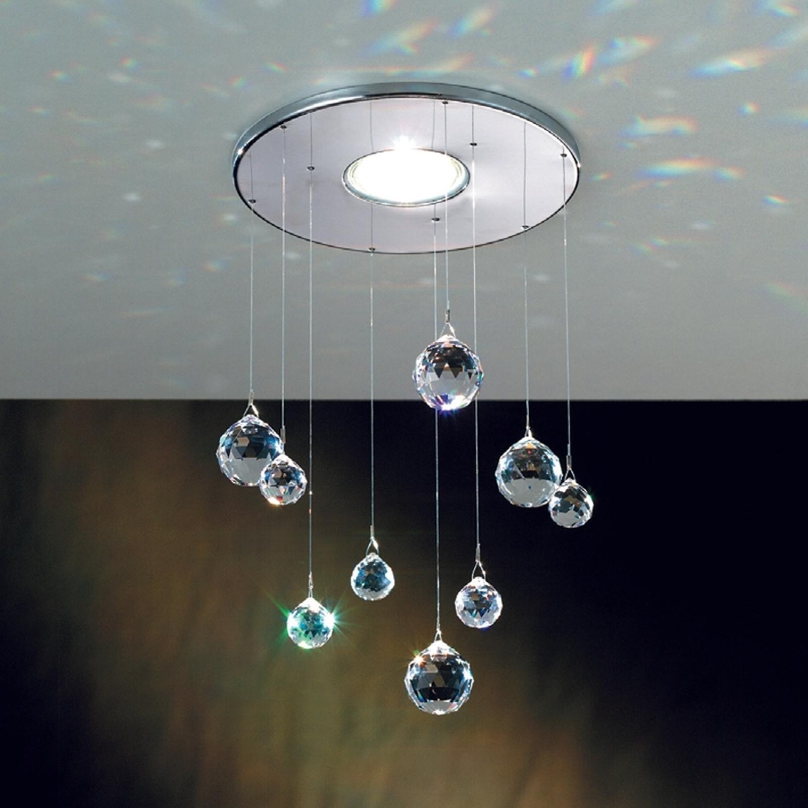 Einbaulampe Feng Shui mit Swarovski Elements chrom