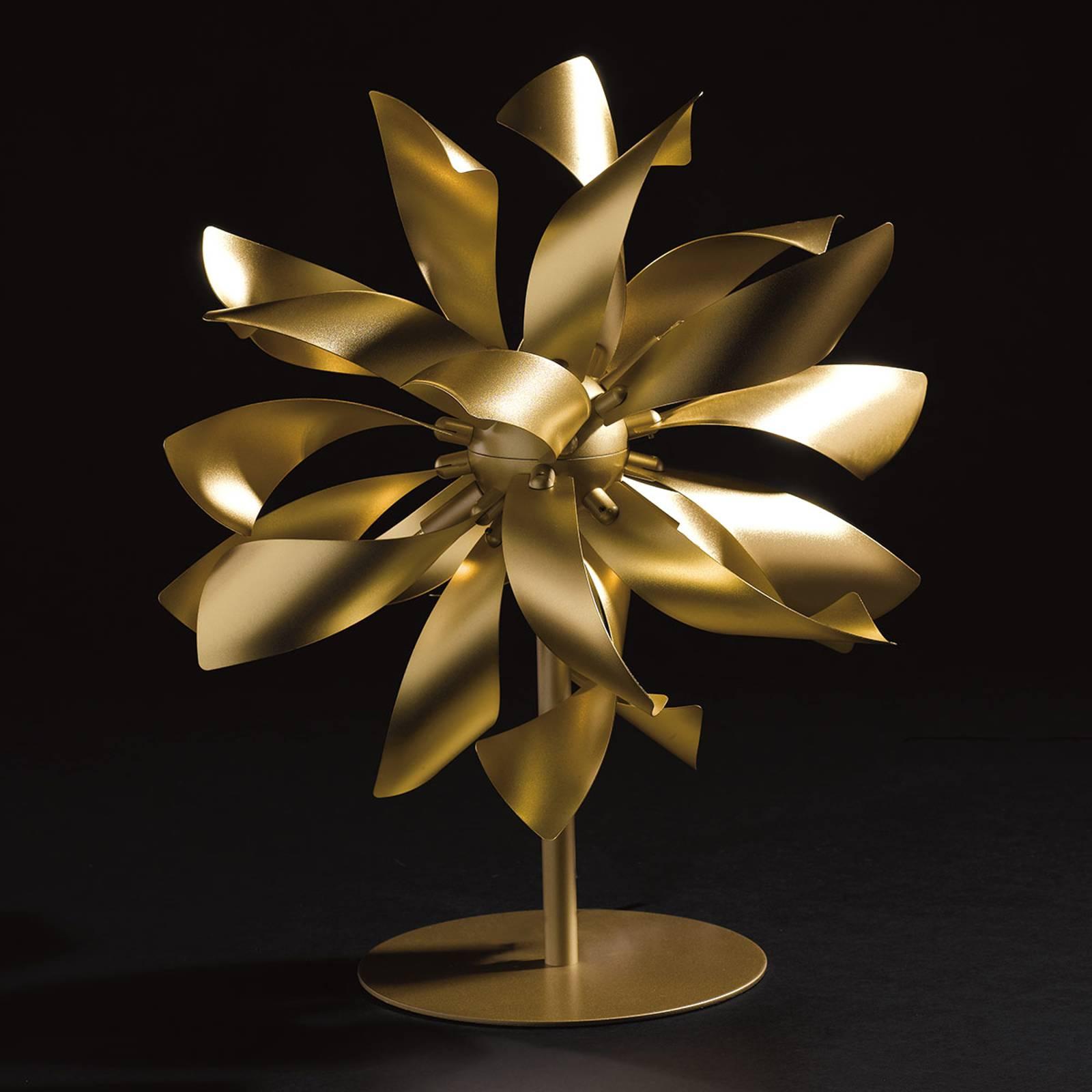 Tischleuchte Bloom goldfarben