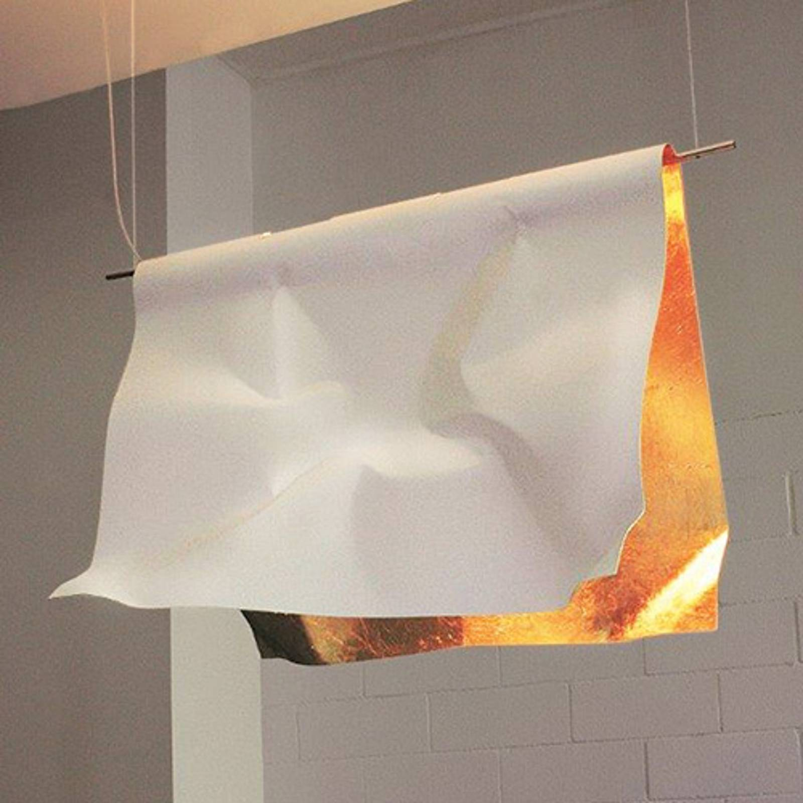 Lampa wisząca Stendimi z płatkowym złotem, 100 cm