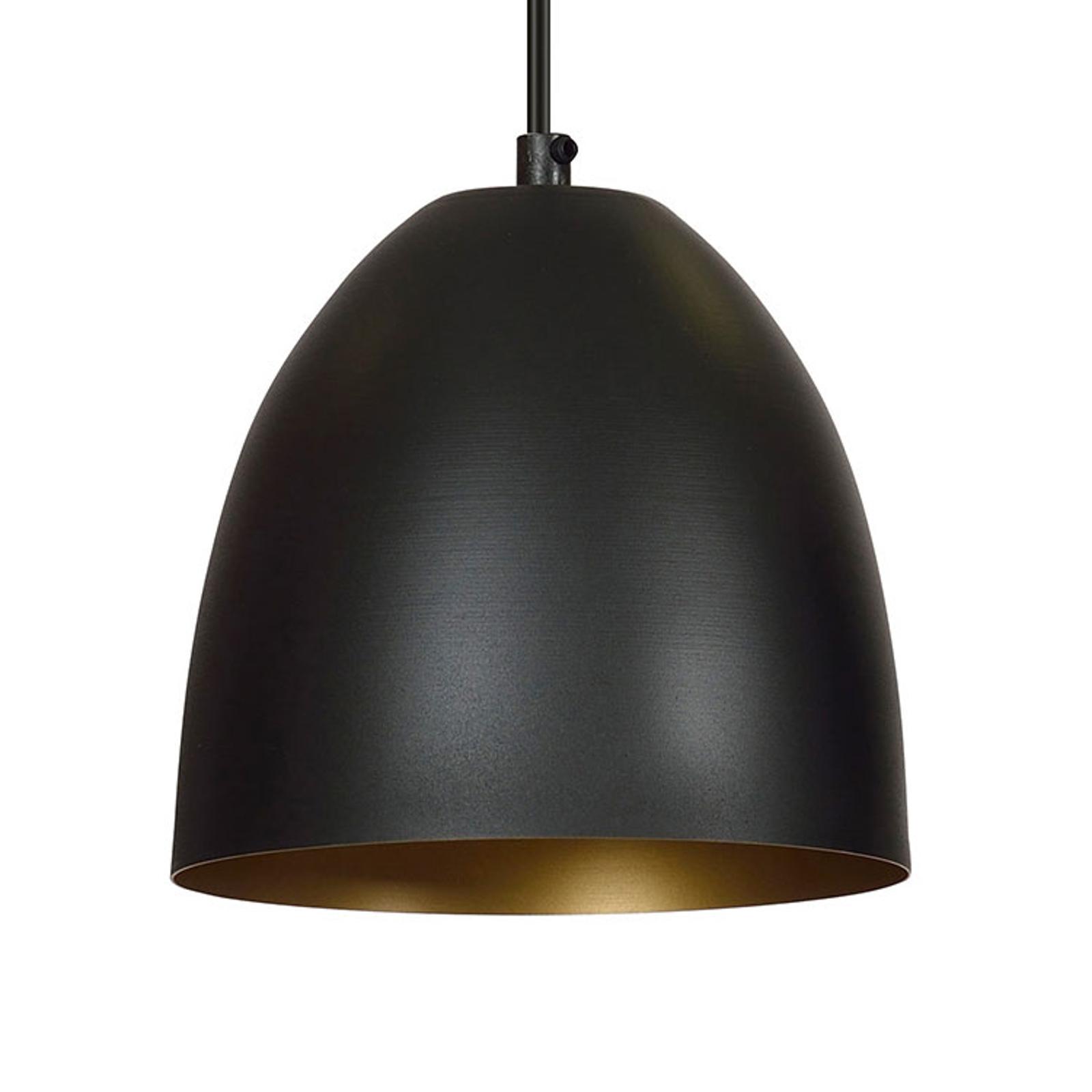 Suspension Lenox, à 1 lampe, noire/dorée
