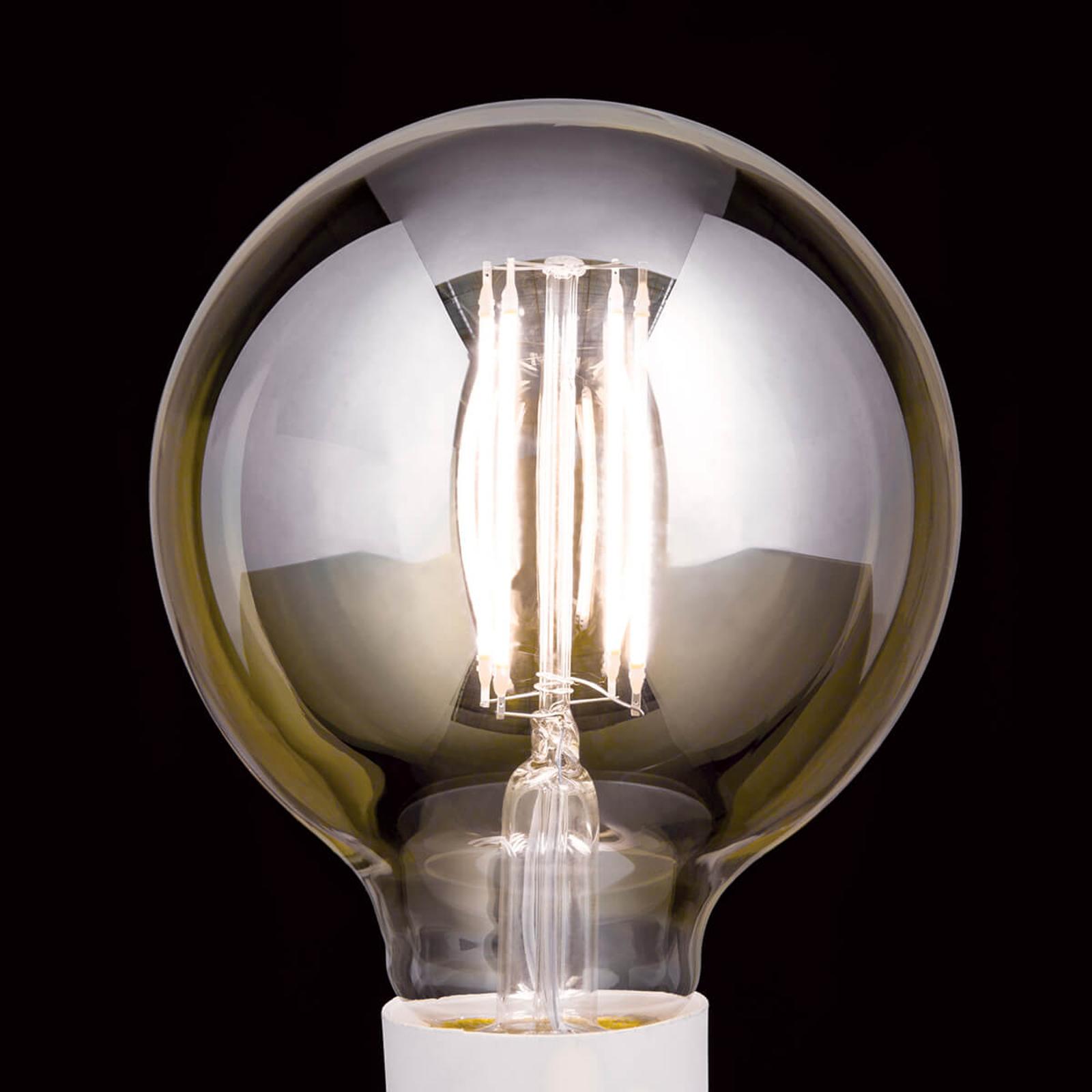 Lampadina LED a globo E27 7W, bianco caldo