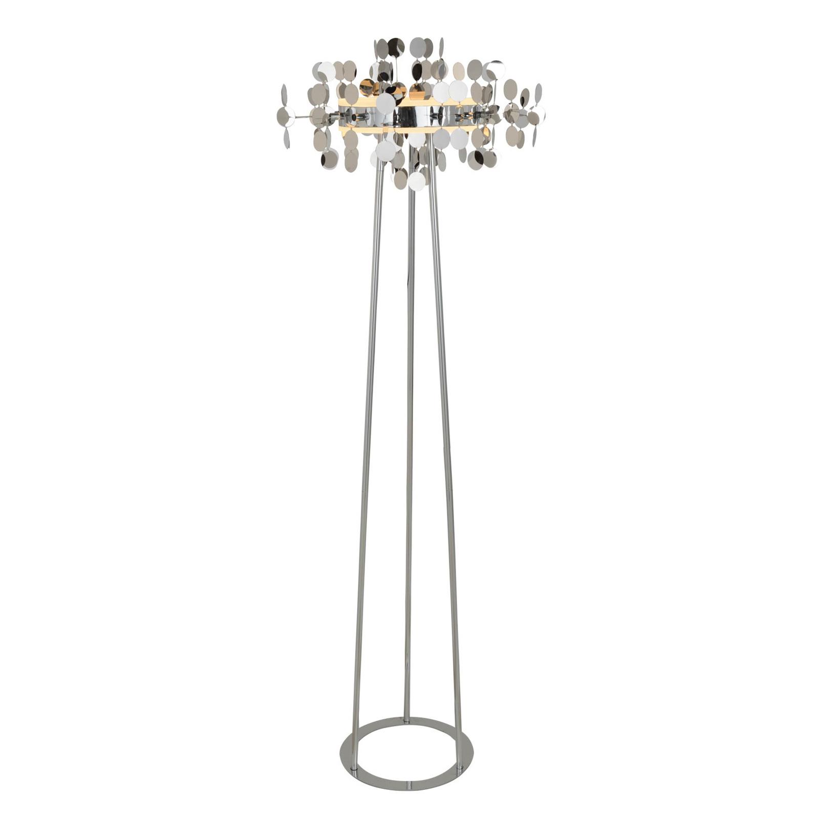 Lucande Glimmo -LED-lattiavalaisin, kromi