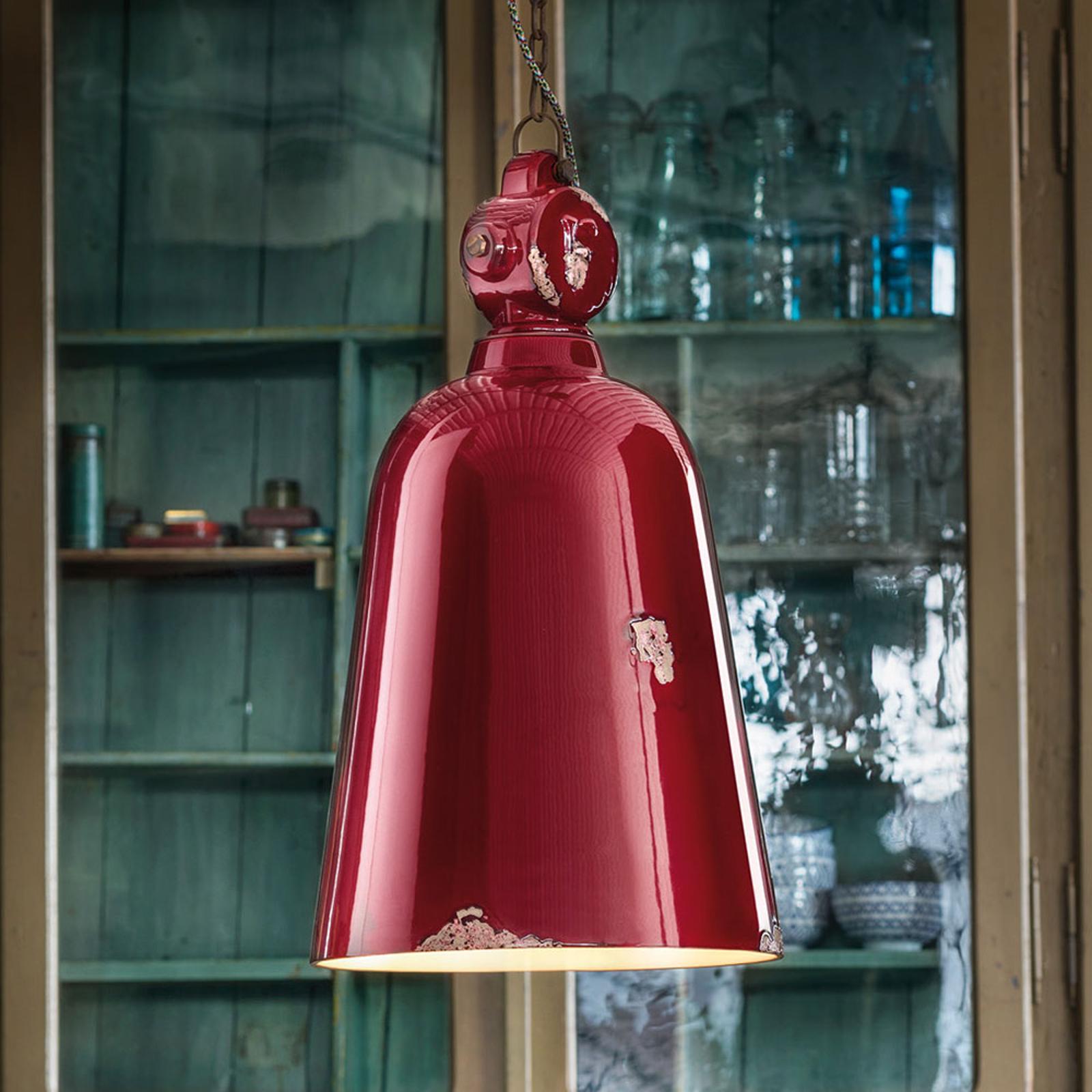 Lampa wisząca Vintage C1745, stożkowa, bordo