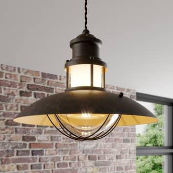 Rustykalna lampa wisząca Louisanne, brązowa